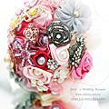 甜蜜約定--【珠寶捧花及多元素材質捧花訂製 / 教學】*另售DIY材料包