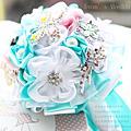 經典Tiffany藍(追加款)-【珠寶捧花及多元素材質捧花訂製 / 教學】*另售DIY材料包