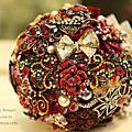 絢麗風華--【珠寶捧花及多元素材質捧花訂製 / 教學】*另售DIY材料包