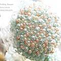 傾城之戀Tiffany藍--【珠寶捧花及多元素材質捧花訂製 / 教學】*另售DIY材料包