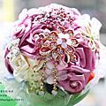 粉桃甜心--【珠寶捧花及多元素材質捧花訂製 / 教學】*另售DIY材料包