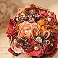 玫瑰風情-【珠寶捧花及多元素材質捧花訂製 / 教學】*另售DIY材料包