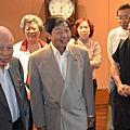 張雲萍101年參加太平創業15週年慶與叔父張允中董事主席、副主席張秋聲等合影