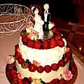 可涵的幸福草莓結婚蛋糕
