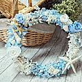 課程編號033:藍色海洋花圈