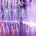 釜山多大浦夢幻夕陽噴泉