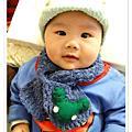 編織~ 手鉤青蛙嬰兒圍巾