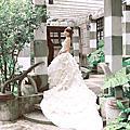 歐式宮廷蕾絲白紗~騏騏@松山文創婚紗外拍