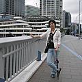 和女兒橫濱散步