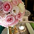 大直典華金枝玉葉廳~粉綠色系 滿天星樹花(160912)