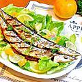 20151206_鹽烤秋刀魚左香桔沙拉