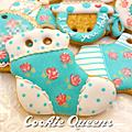 餅乾皇后~經典玫瑰收涎(藍玫瑰款)