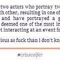 CrissColfer 小道消息