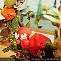綠色穀倉乾燥花-秋日花圈