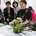 插花園藝-線菊和粉康乃馨(2016年12月13日)