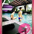 2014/10/11 泰放鬆之 M 飯店的無邊際泳池 + 依依不捨的不想回臺灣啊 ..... T_T