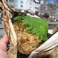 2010春,池袋東武樂天美食展:萬來黑豚爆彈御飯糰、鹿兒島黑豚角煮便當