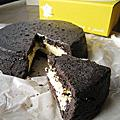 2010春,池袋東武百貨樂天美食展:La Famille的烏漆抹黑起司蛋糕