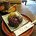 かさぎ屋:三色荻乃餅、白玉紅豆冰砂