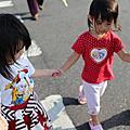 2013年11月9日 阿桐阿瑞相見歡 一起吃飯 畫畫 牽手 溜滑梯 白玉與抹茶鯛魚燒