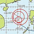 2012年颱風路徑預測圖