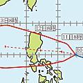 2013年颱風路徑預測圖