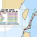 2015年颱風路徑預測比較圖