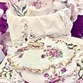 蝴蝶結蜂蜜蛋糕下午茶