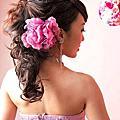 艾瑪日系♥粉紫花嫁♥