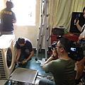 東森財經拍攝颱風後冷氣維修