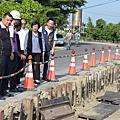 花壇鄉溪埔路災後修復工程 王惠美指示如期如質完工