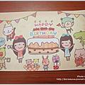 201207 和MiWA交換明信片