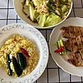 2020.05.21 味噌烤豬排、炒高麗菜、黃金炒飯