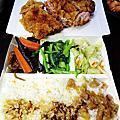 沙鹿美食『金選食堂』招牌魯肉飯/烤肉飯/現炸紅糟肉/鳳梨苦瓜雞盅/各式便當(烤肉飯-好香好好吃)