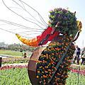 免費景點『2017台中國際花毯節』后里花田綠廊-展出到2018.01.07止