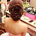 新娘造型-玫瑰編髮