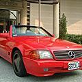 1993年BENZ R 129 300SL(紅色)