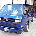 福斯 T3 1990年 商旅7人座 CART (鑽石) 水晶珍珠藍(易特商務網古董車出租)
