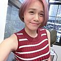 <<染髮>>粉橘挑染粉紫
