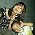 99.8.22老婆與兒子的新髮型