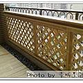樹林  陽台欄杆 陽台地板 3D圖