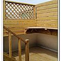 平鎮 露天庭院 地板 桌椅 樓梯