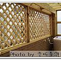 竹北 採光罩 陽台地板 格網+小鞦韆 南方松窗框