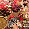 紅色主題 小籠包花藝