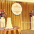 粉色紙花婚禮佈置-新竹喜來登
