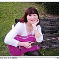 我的新寶貝「小炫紫baby吉他」出外景囉~