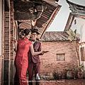 【婚紗照 推薦】古蹟與紅禮服