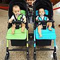 2017 PUKU雙胞胎1+1推車開箱