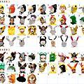 動物頭套/假髮/帽子451~750