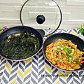 【韓國Wonder Mama】玫瑰粉鈦原石不沾雙鍋組 時尚新色造型優雅,免盛盤連鍋帶料直接上桌